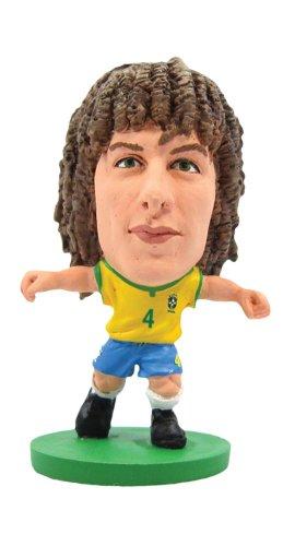 SoccerStarz Brazil International Figurine Blister Pack Featuring David Luiz Home Kit