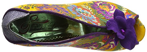 Poetic Licence by Irregular Choice Shanghai Surprise - Peep-Toe - Femme Multicolore (Yellow)