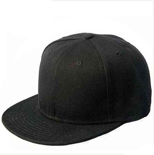 culaterr-nero-snapback-pianura-di-hip-hop-del-berretto-da-baseball-ragazzo-regolabile-cappello