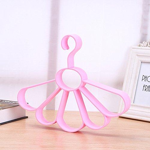yijia 10 St¨¹ck£¬Bekleidungsgesch?ft Kreis Schal/Krawattenrahmen, Tender Pink Flower (Kreis-muster-krawatte)