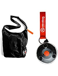 Retrabag Retractable Reusable Grocery Shopping Eco-friendly Tote Bag With Carabiner