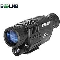 ESSLNB Monocular Vision Nocturna 5X40 Vision Nocturna Caza Infrarrojo IR Camara Grabación Imagen y Vídeo Reproducción