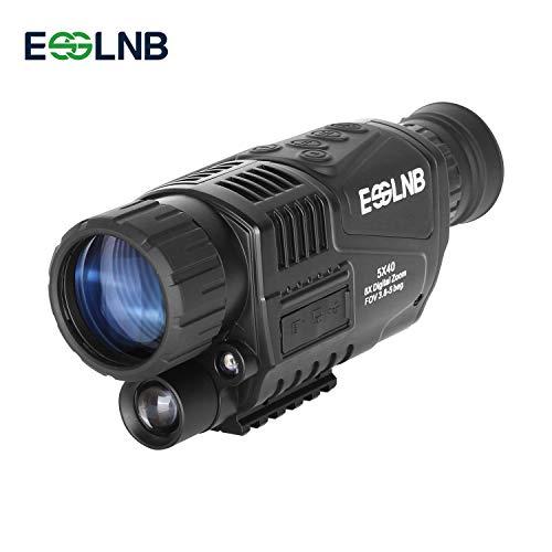 ESSLNB Visore Notturno Monoculare 5X40 Infrarosso HD Telecamera con 1.5 inch LCD Schermo 8GB TF Carta e Borsa per la Caccia