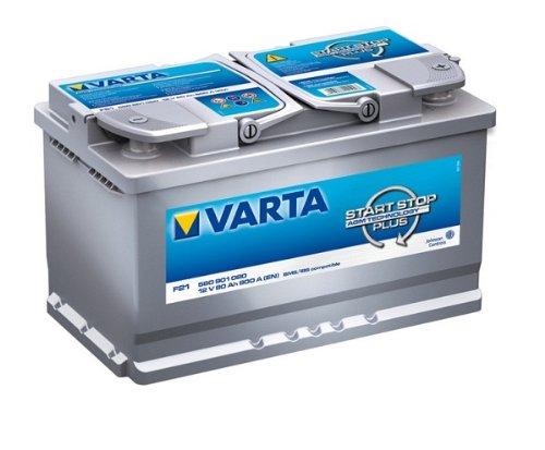 Varta F21 - Batteria per auto da 80Ah e 12V