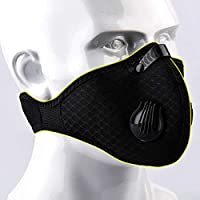 Jinxuny Máscara a Prueba de Polvo Ciclismo Mascarilla Facial, Máscara anticontaminación Filtración con carbón Activado Gas de Escape Anti Polen Alergia para Ciclismo de montaña Ciclismo de Carrera