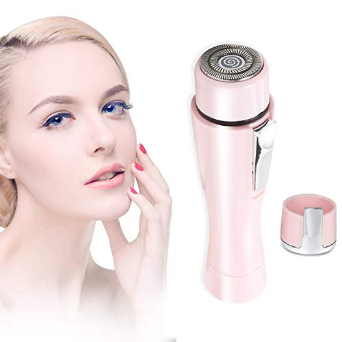 Painless Facial Hair Remover For WomenLuxury Portable Flawless Ladies Facial Hair Trimmer Effective Removal Of Peach Fuzz Chin And Upper Lip Hair Battery Not Include