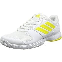 adidas Barricade Court W, Zapatillas de Tenis Mujer, Varios Colores (Ftwbla/Amabri/Ftwbla), 38 EU
