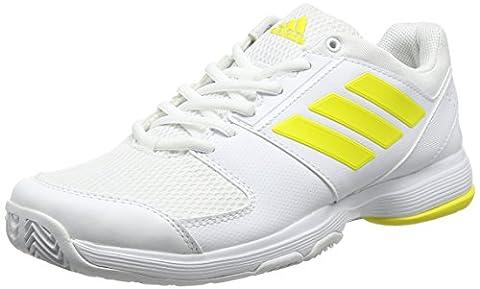 adidas Women's Barricade Court Tennis Shoes, Yellow (Footwear White/Bright Yellow/Footwear White), 6.5 UK