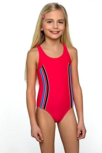 Lorin Mädchen Badeanzug Gr. 9-10 Jahre 146 cm, Red Coral