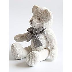 Kiyi-Gift Bebé Juguete | adorable Juguete de Peluche de Oso con Corazón | Algodón Orgánico Suave para bebé