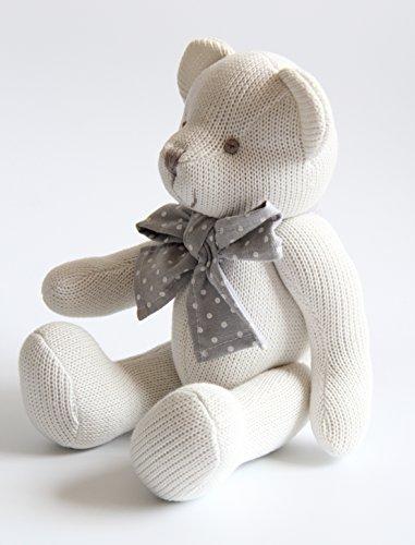 Kiyi-Gift Giocattoli di pezza Consolatore Bambino | molle & sveglia Giocattolo Peluche Orso con Cuore | Cotone Organico per bambino/infante