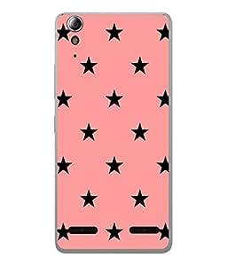 FUSON Designer Back Case Cover for Lenovo A6000 :: Lenovo A6000 Plus :: Lenovo A6000+ (Multi Star Pattern With Pink background Shining Stars Sky)