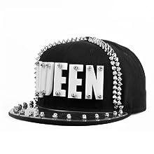cebde876 LOCOMO Men Women Black Hedgehog Spike Acrylic Queen Baseball Cap Snapback  FFH065