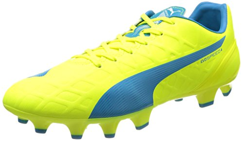 Puma Evospeed 4 4 Fg, Chaussures de Football Homme Jaune (Safety Yellow/Atomic Blue/White)