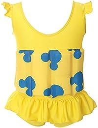 Hibote Niños gratis aprender a nadar flotador ajustable Traje de protección solar UV traje de baño para niños
