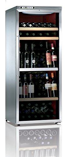 Ip Industrie - Cantinetta climatizzata inox con anta doppio vetro e due scomparti autonomi, capacità 98 bottiglie
