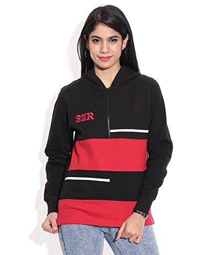 Slazenger Women Hooded Jacket (SWWj004) Red/Black Size-Medium