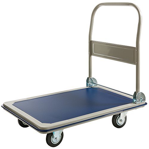 Arebos Plattformwagen/bis 300 kg Tragkraft/mit Lenkrollen/Antirutschbeschichtung / Kantenschutz