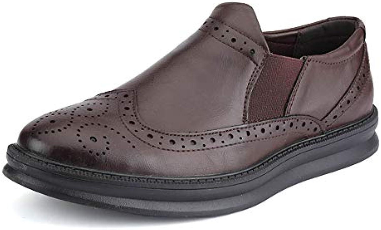 Ruanyi Business Oxford da Uomo Casual Comodo Low Top Semplice Coloreee Puro Slip On Scarpe Formali Brogue (Coloree... | Sensazione Di Comfort  | Uomo/Donne Scarpa
