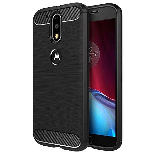 Funda Motorola Moto G4 / G4 Plus 5.5'',Simpeak Negro TPU Moto G4 / G4 Plus Carcasa Funda Suave Flexible piel Resistente a los Arañazos silicona protectora para Moto G4 / G4 Plus