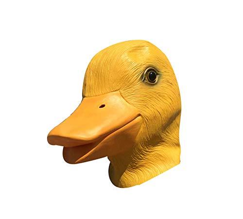 Kostüm Tier Gruppe - JIAENY Halloween-Maske,Halloween Maske Mask Gruselige Gummi Tier Masken Latex Party Gelbe Ente Tiere Maske Erwachsene Cosplay Party Maskerade,Yellow