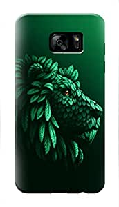 Samsung Galaxy S7 Edge Black Hard Printed Case Cover by Hachi - Lion Design