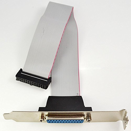 Motherboard Parallel LPT Printer Port Cable Slot Bracket 25 Pin Socket Female