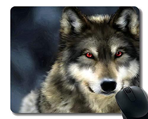 Gaming Mouse Pad Custom, Tier Wolf Ray Gummi Große Mauspad Matte
