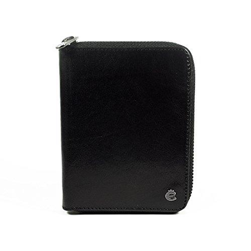 Esquire Toscana Porte-monnaie femme cuir 14cm Black Black
