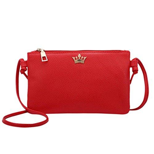 Handtasche Btruely Mode Damen Schultertasche Weib Eegant Tragetaschen Frau Briefträger Paket (z Rot) -