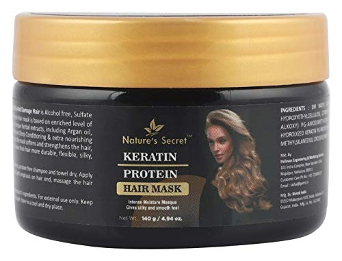 Nature's Secret Keratin Protein hair mask for hair, No parabens and no mineral oil Keratin Protein, 4.98 oz / 140g)