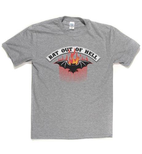 Rough Justice Bat Out Of Hell Classic Rock Musik Legends Retro-T-Shirt Sports Grau