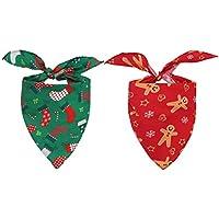 HOMIMP Halstuch für Hunde und Katzen, Weihnachtsmotiv, 3 Stück