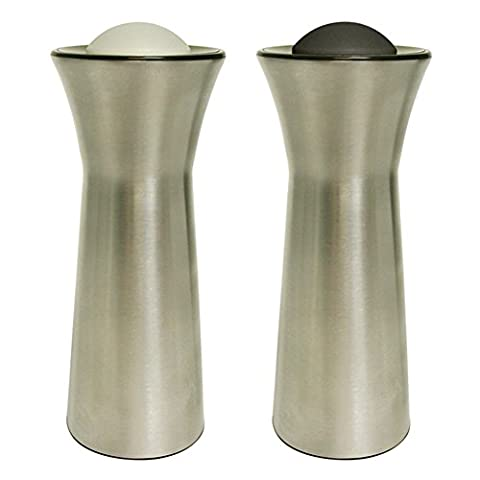 Fox Run KitchenArt Pro Salt & Pepper Dispenser & Shaker, Champagne Satin Finish