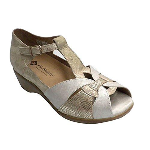Chiuso sandalo donna tallone per plantari Pie Santo metallico taille 36