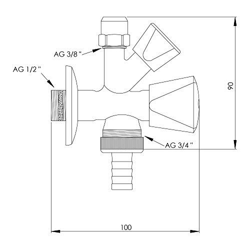 Zoom IMG-1 variosan valvola angolare combinata per