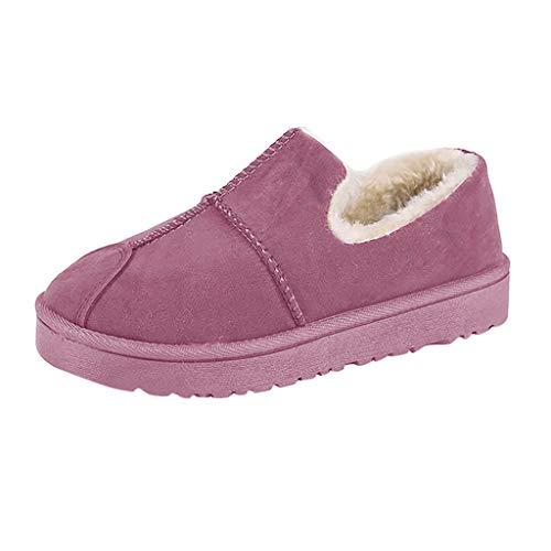 Damen Winter SchneeschuhePelzgefütterte warme StiefelettenSlip On wasserdichte Outdoor-BootiesBequeme Schuhe für Frauen