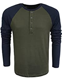 Brave Soul Mens Long Sleeve Top Designer Rasmus' Henley Style Cotton Sizes S-XL