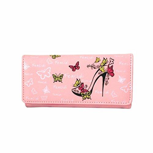 kingkor-women-wallet-butterfly-high-heels-pattern-lady-coin-purse-long-wallet-handbag-pink