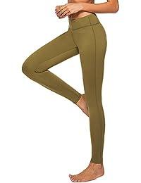 dh Garment Legging de Sport Femme Taille Haute avec Poche Pantalon Amincissant pour Yoga Gym Fitness Running