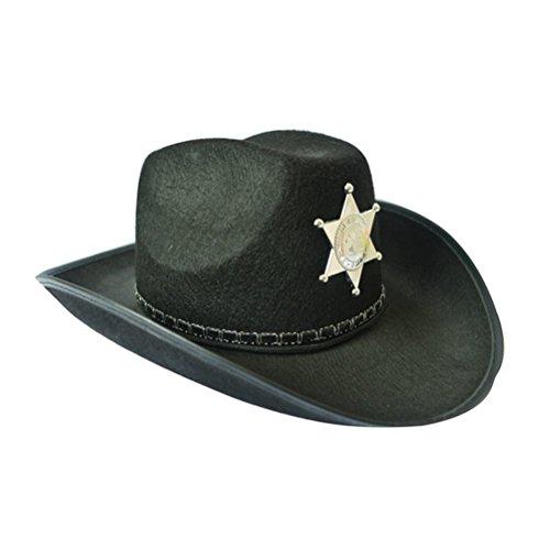 OULII Cowboy Hut Western Sheriff Hut Cowboy unter dem Motto Geburtstag Halloween Weihnachten Party Kostüm (Cowboys Halloween Kostüme)
