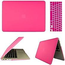 frixie (TM) rosa portátil carcasa rígida de goma carcasa rígida y teclado Cubierta para MacBook Air