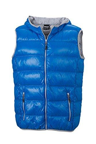 Herren Daunenweste ultraleicht sportlich Winterweste Sport Weste Blue/Silver