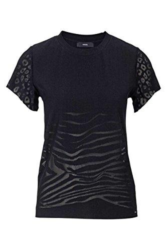 Diesel Damen Shirt T-Shirt T-Smile-X Maglietta, Farbe: Schwarz, Größe: S