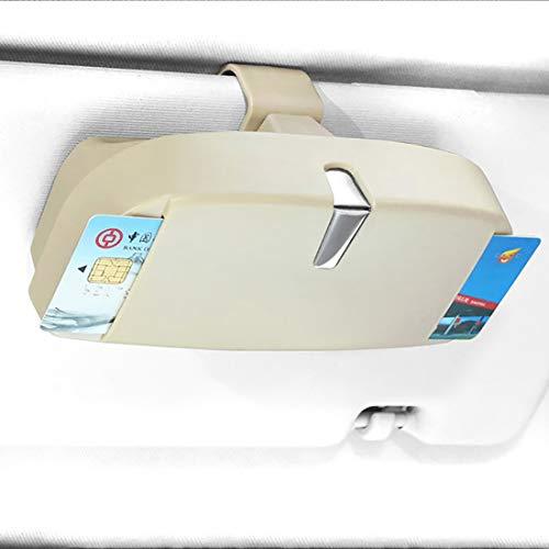 Auto Brillenetui Sonnenbrille Schutzbox Halter für A B C E S Klasse W176 W246 W204 W205 W212 W213 CLA GLA ML (beige)