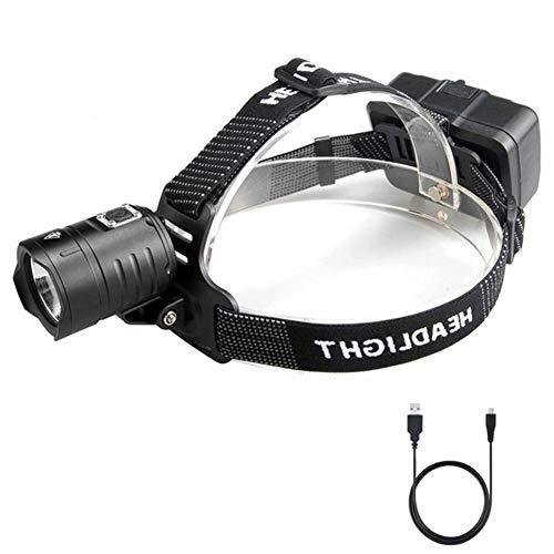 SH-Zak Miller LED-Scheinwerfer Hohe Leistung Scheinwerfer Stirnlampe wasserdichte Taschenlampe Outdoor Camping Beleuchtung Super Helle Sicherheitslampe (Läufer Strobe)