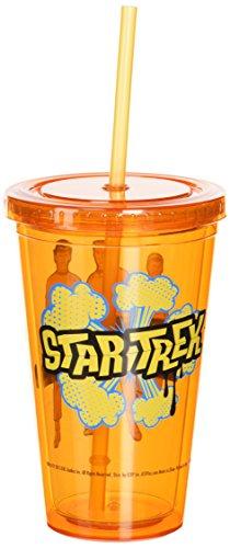 Plastique Mug – Star Trek – Boldly Go coloré Tasse W/paille Nouvelle licence 07951