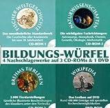 Bildungs-Würfel, Wikipedia, Weltgeschichte, Naturwissenschaften und Tierlexikon 3 CD-ROMs & 1 DVD-ROM Fischer Weltgeschichte, Naturwissenschaften, Brehms Tierleben, Wikipedia. Für Windows und Mac -