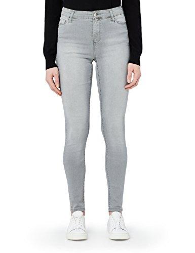 MERAKI Skinny Jeans mit Stretch-Anteil Damen, Grau (Grey), W28 x L32