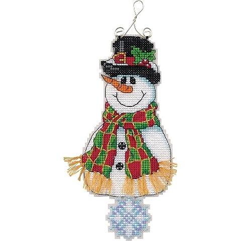 Whimsies, motivo: pupazzo di neve sorridente-Kit punto croce a schema numerato, 7-1/10,16 (4 cm - Whimsy Snowman